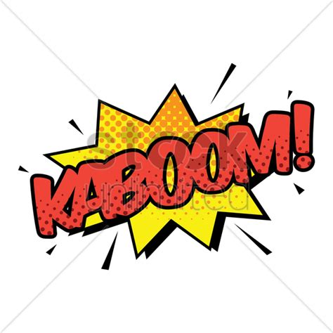 Kaboom Text With Comic Effect Vector Image