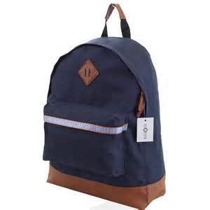 rucksack designer mens boys retro designer backpack rucksack school college travel work bag ebay