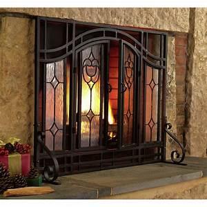 plow, , u0026, hearth, single, panel, glass, fireplace, screen, , u0026, reviews