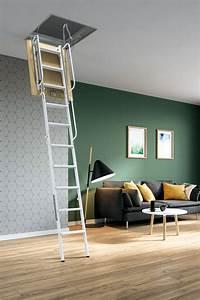 Escalier Escamotable Grenier : escalier escamotable droit m tallique escalier ~ Melissatoandfro.com Idées de Décoration