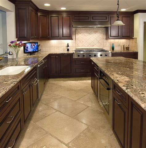tile flooring kitchen cabinets kitchens and backsplashes