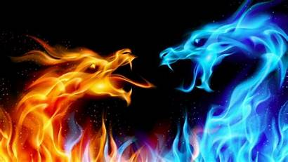 Fire Wallpapers Dragon Ice Dragons Fight Background