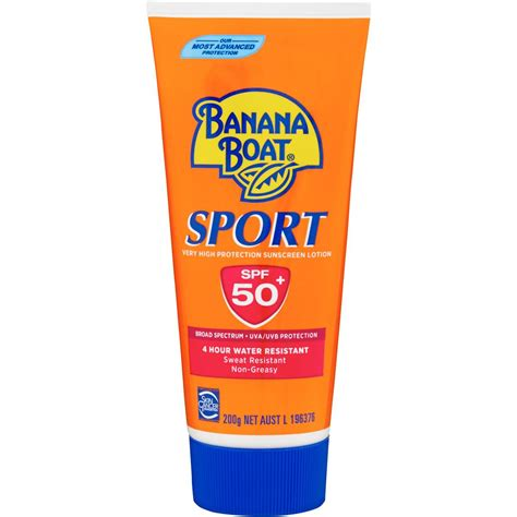 Banana Boat Sunscreen Safe banana boat spf 50 sunscreen sport 200g woolworths