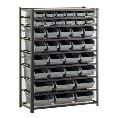 Home Depot Canada Decorative Shelves by Sandusky 36 Bin 57 In H X 44 In W X 16 In D Black