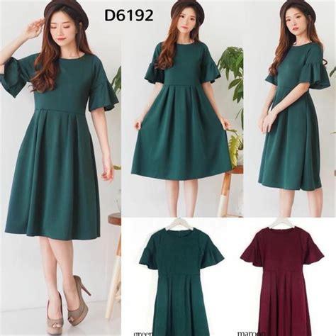 Dress Lita Hijau jual d6192 dress natal dress maroon dress hijau natal