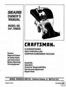 Craftsman Chipper Shredder Vacuum Manual 247 799620