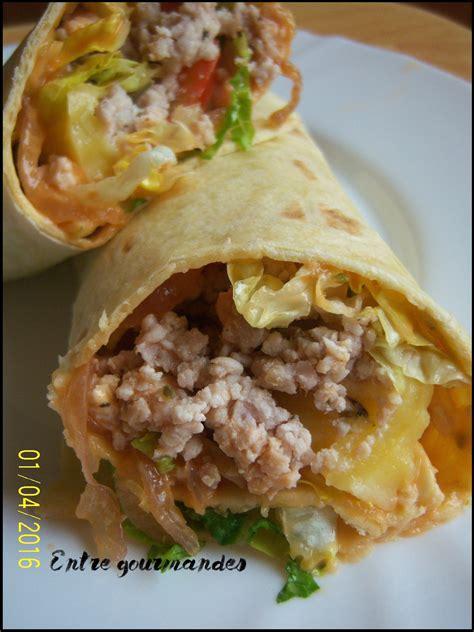 cuisine viande wraps de viande hachée blogs de cuisine