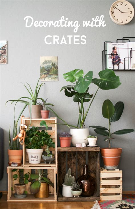 Decorating Ideas With Crates by Decorating With Wine Crates 183 Happy Interior
