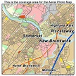 Aerial Photography Map of New Brunswick, NJ New Jersey