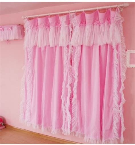 pink ruffled window curtains diaidi princess living room curtains ruffle pink