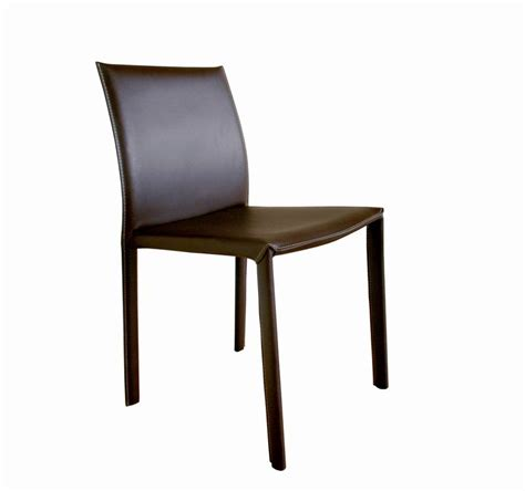 brown burridge leather dining chair with brown leather