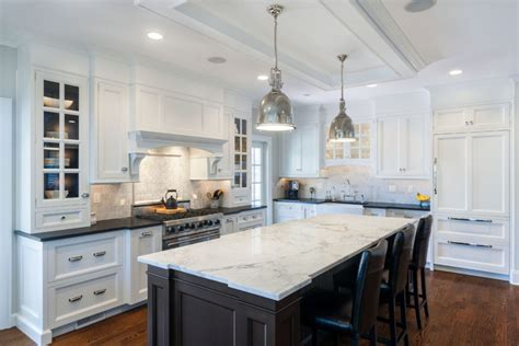 white marble kitchen island 36 marbled countertops to ignite your kitchen rev