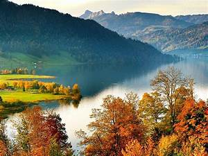 Lake, Landscape, Autumn, Switzerland, U00e4gerital, Impressive