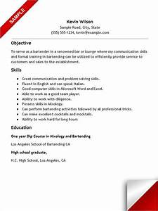 Coordinator Resume Examples Bartender Resume With No Experience Resume No Experience