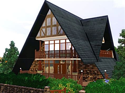 A Frame Style House Plans by Large A Frame House This A Frame House Feature A