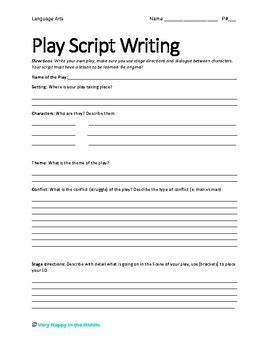 play script template play script writing template by happy in the middle tpt