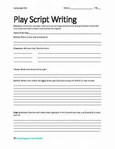 play script writing template by very happy in the middle tpt With script writing template for kids