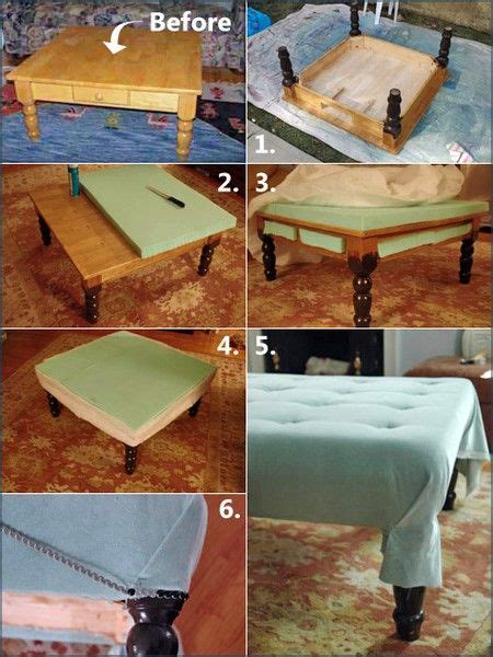 Make An Ottoman From A Coffee Table by Your Own Ottoman Coffee Table Woodworking