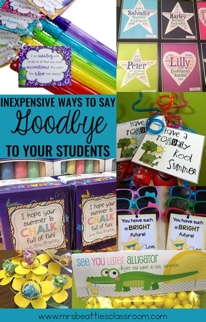 fun gifts for students during student teaching 10 inexpensive ways to say goodbye to students education student gifts