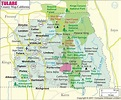 Tulare County Map (With images) | Tulare county, County ...