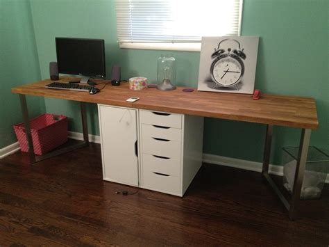 making an office desk office makeover part one diy desk ikea hack design
