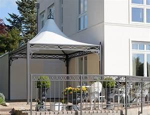 Gartenpavillon Metall Mit Festem Dach : exklusiver pavillon 3x3 auf einer terrasse ~ Bigdaddyawards.com Haus und Dekorationen