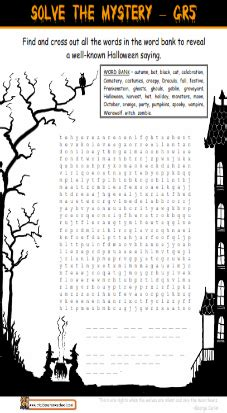 grade  halloween worksheet cryptogram cryptic message
