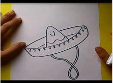 Como dibujar un sombrero paso a paso How to draw a hat