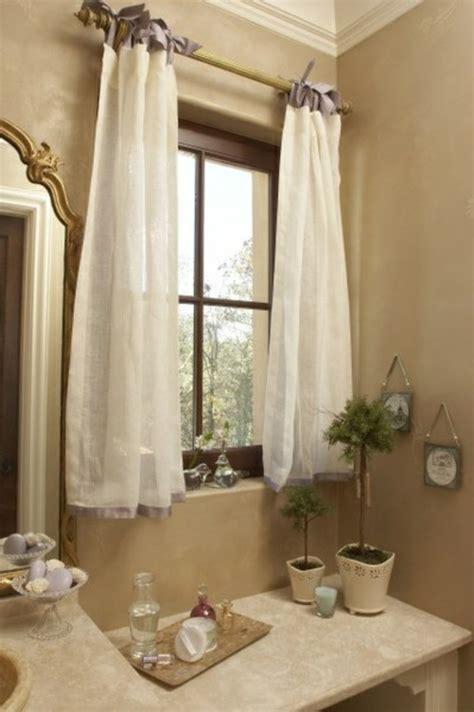 rideau pour fenetre salle de bain le rideau voilage dans 41 photos