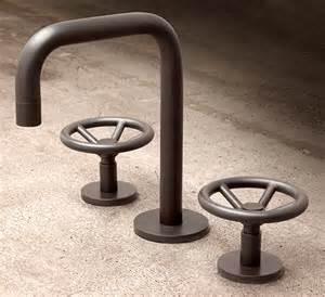 kitchen faucet industrial bath faucet by watermark industrial style