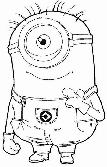 Minion Kevin Drawings Coloring Pages Cartoon Printable