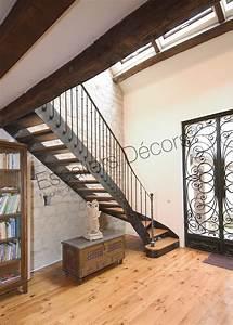 Escalier 1 4 Tournant Droit : escalier 1 4 tournant escaliers d cors ~ Dallasstarsshop.com Idées de Décoration