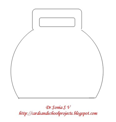 bag template cards crafts projects bag shaped card and template