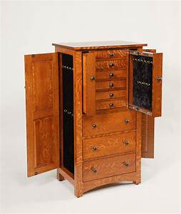 """48"""" Deluxe Flush Mission Jewelry Armoire Amish Valley"""