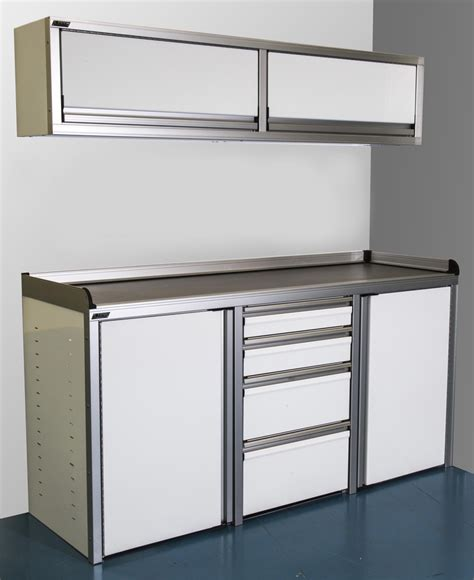 Cabinets Aluminum by 6 Foot Wide Economy Aluminum Cabinets With Drawers