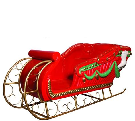 giant santas sleigh decor prop commercial christmas
