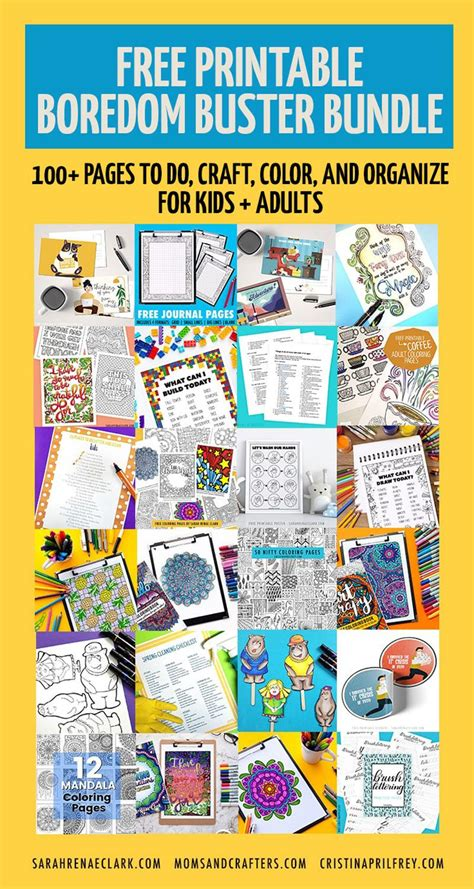 CLick to download these free printable boredom busters
