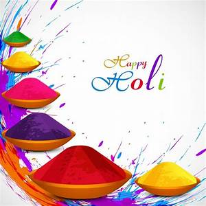 Beautiful Holi festival background Vector | Free Download