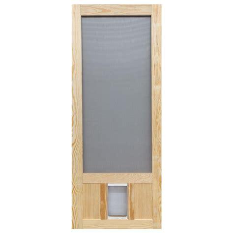 pet screen door 36 in x 80 in chesapeake series reversible wood screen