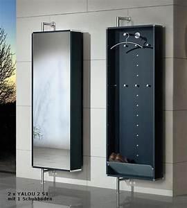 Schuhschrank Wand : drehbare wand garderobe mit spiegel 1 schuhboden ~ Pilothousefishingboats.com Haus und Dekorationen
