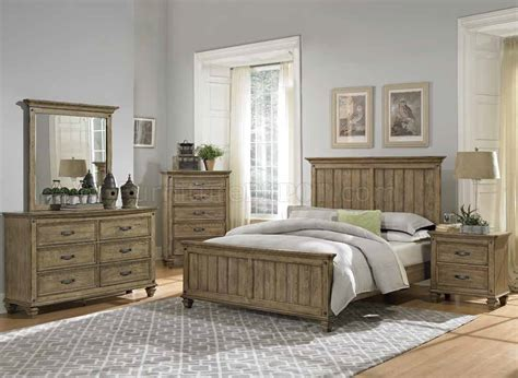 Bedroom : Sylvania Bedroom In Driftwood By Homelegance W/options