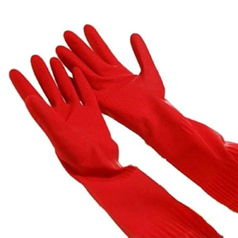 commercial   red latex gloves etundra