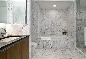 Salle De Bain Marbre Blanc : une salle de bain en marbre le penthouse de justin timberlake ~ Nature-et-papiers.com Idées de Décoration