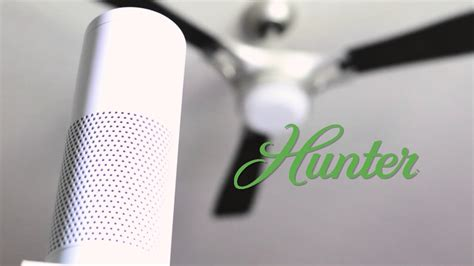 control ceiling fan with alexa hunter simpleconnect ceiling fans integration with amazon