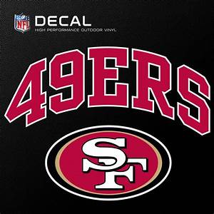 stockdale 6quotx6quot nfl outdoor logo vinyl san francisco 49ers With vinyl lettering san francisco