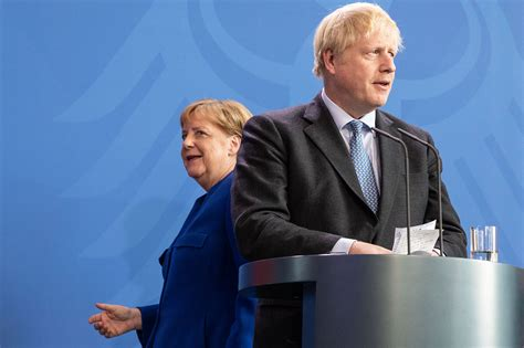 boris johnson brexit merkel conference press deal angela minister prime german british policy august getty foreign hong kong seeks