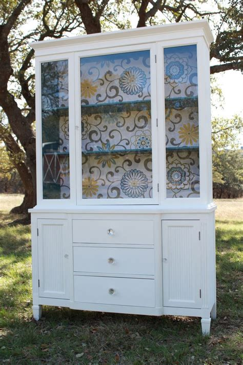 Painted Hutch Ideas - modern cottage painted china cabinet reserved for angela