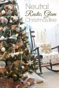 country wedding ideas neutral rustic glam christmas tree of family home