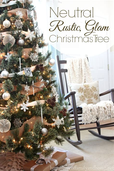 neutral rustic glam christmas tree love of family