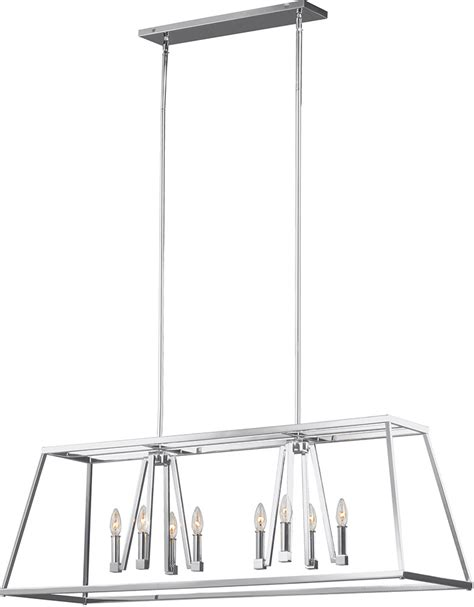 feiss f3152 8ch conant chrome kitchen island light fixture